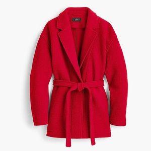 NEW! J. Crew Italian Wool Wrap Coat